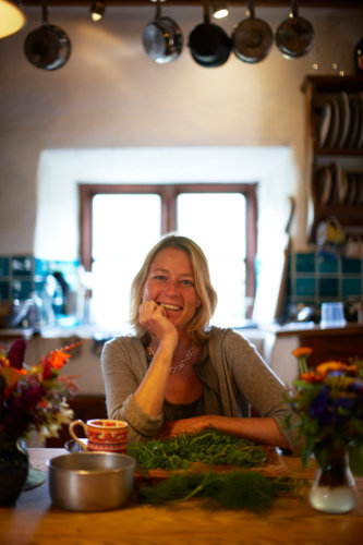 Photograph of Caroline Davey from Fat Hen, The Wild Cookery School, in Cornwall