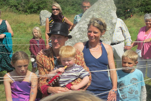 Caroline Davey from Fat Hen, The Wild Cookery School, in Cornwall with her family