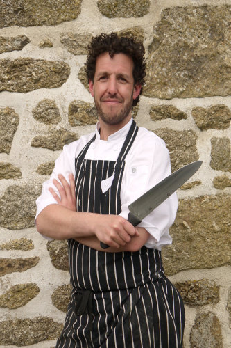 Photograph of chef, Mark Devonshire, Fat Hen's fish and game teacher