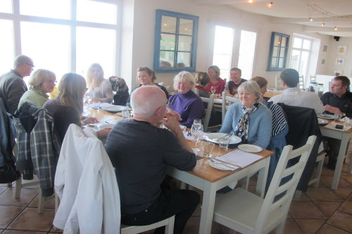Photograph of a forage and feast course at the Porthminster beach cafe, St Ives