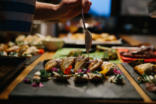 Photograph of our gourmet wild food weekend course at Fat Hen, the Wild Cookery School in Cornwall