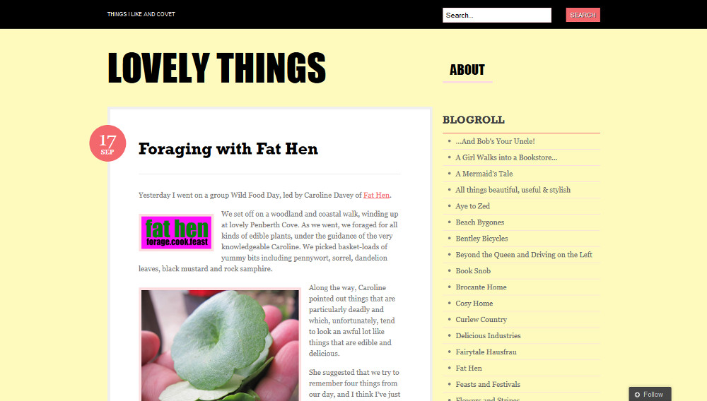 Fat Hen website feature