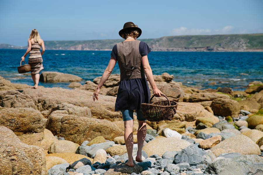 Photograph of Caroline Davey from Fat Hen seashore foraging